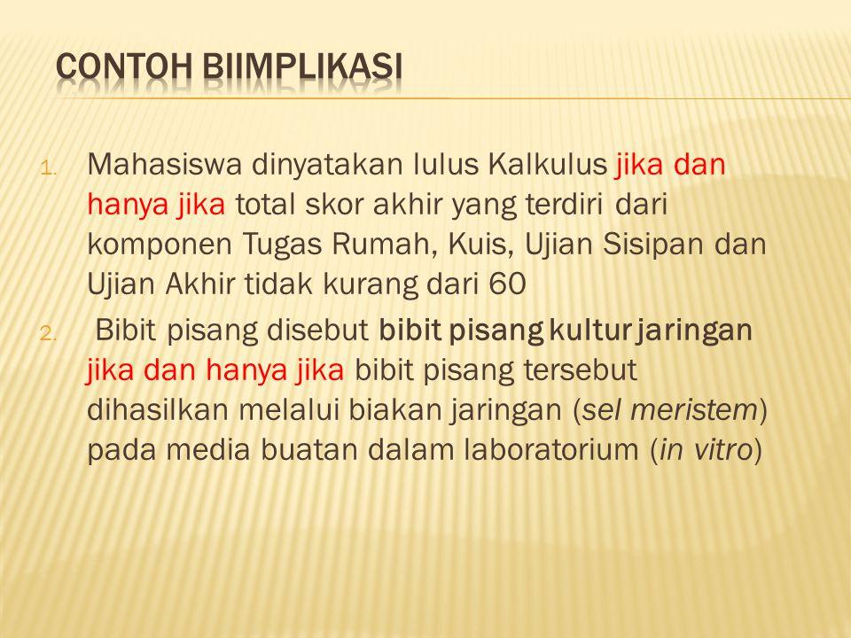 Contoh biimplikasi
