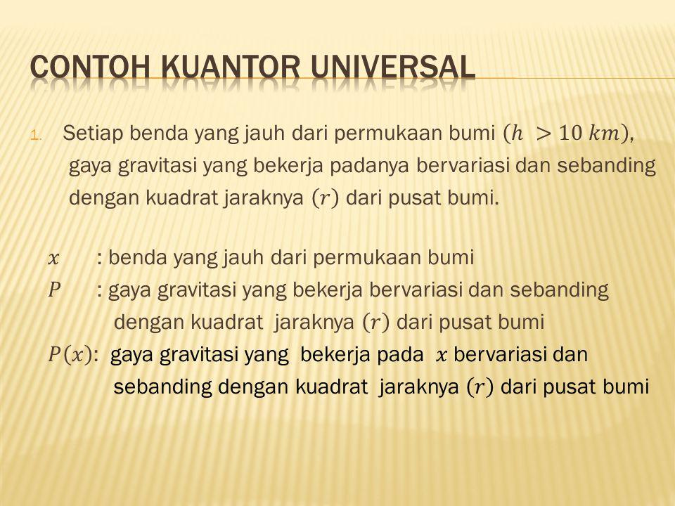Contoh kuantor universal