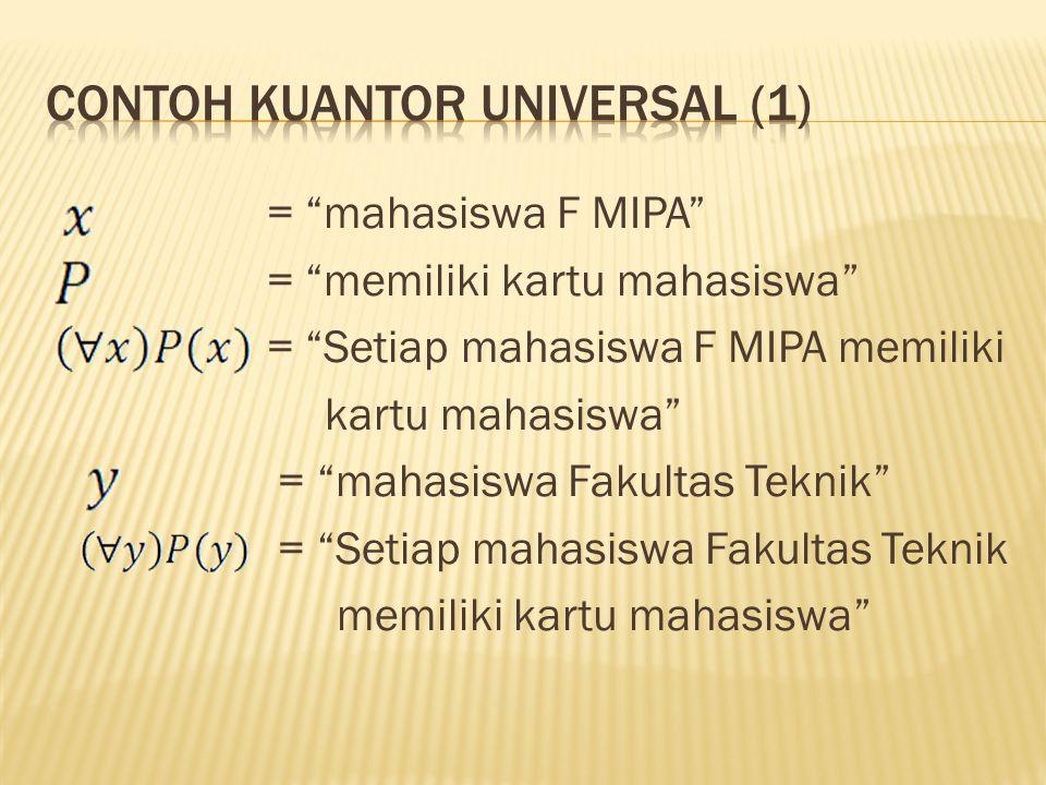 Contoh kuantor universal (1)