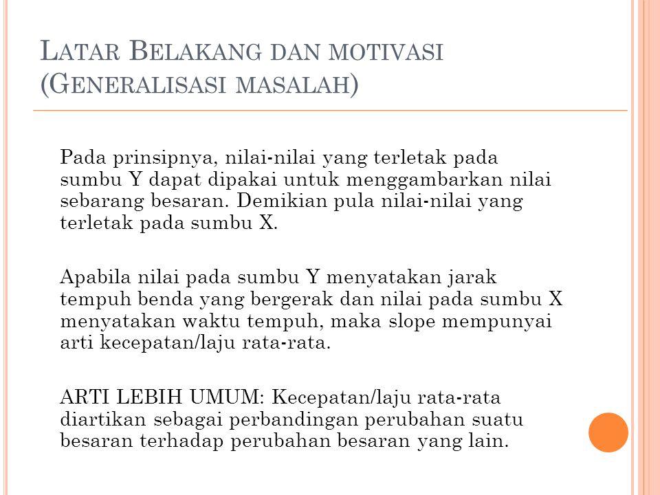 Latar Belakang dan motivasi (Generalisasi masalah)