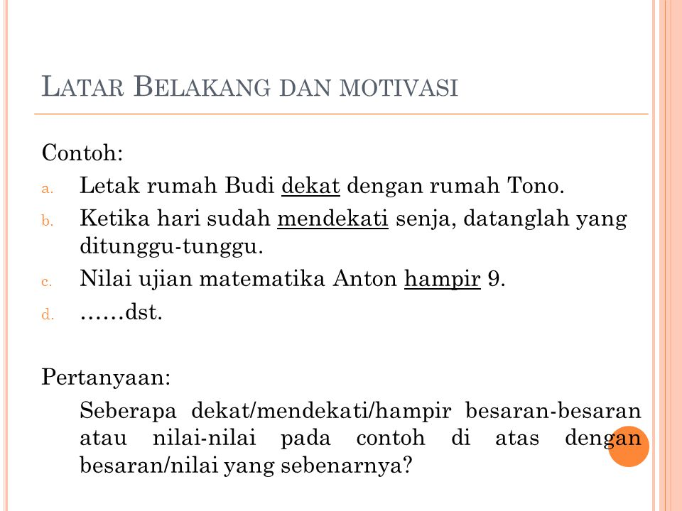 Latar Belakang dan motivasi