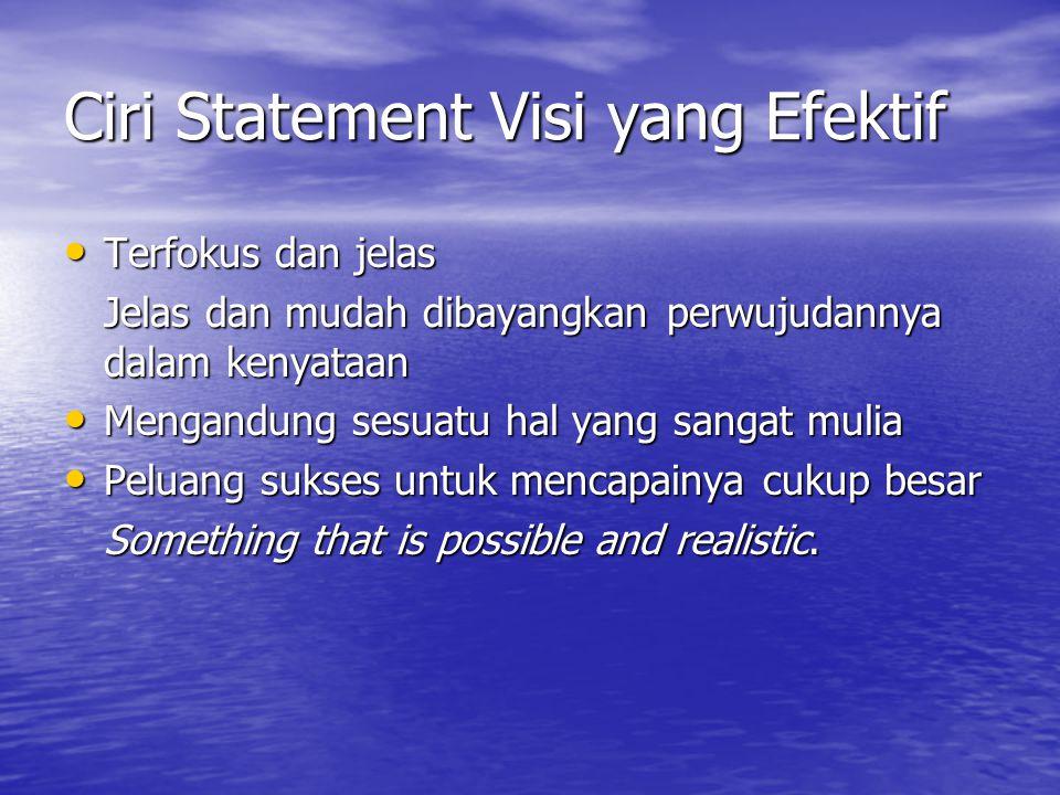 Ciri Statement Visi yang Efektif