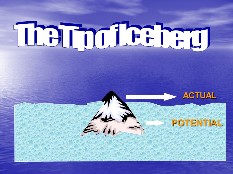 The Tip of Iceberg ACTUAL POTENTIAL
