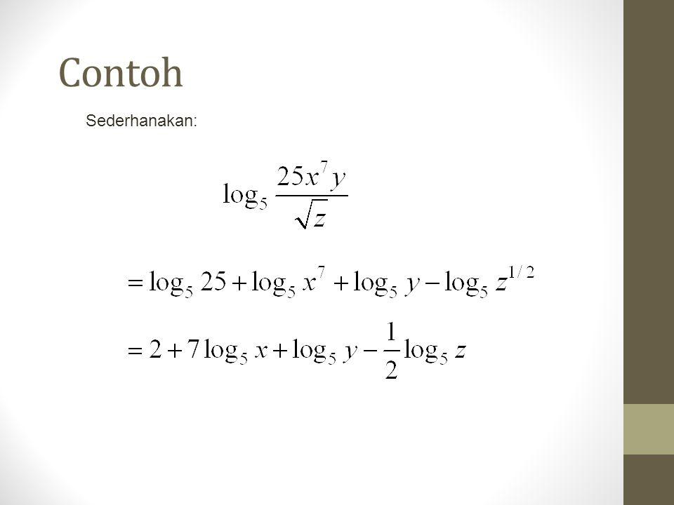 Contoh Sederhanakan: