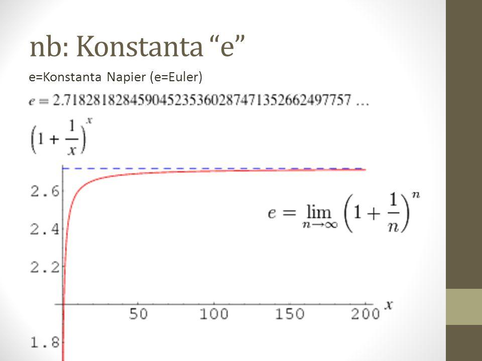 nb: Konstanta e e=Konstanta Napier (e=Euler)