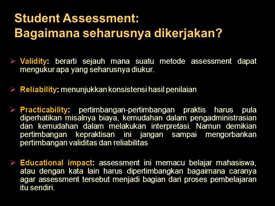 Student Assessment: Bagaimana seharusnya dikerjakan