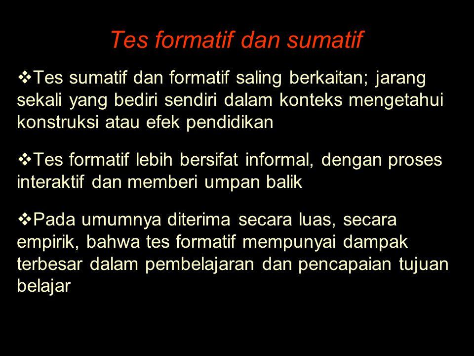 Tes formatif dan sumatif
