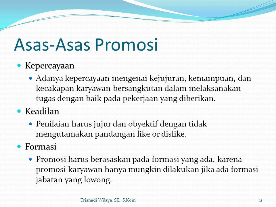 Asas-Asas Promosi Kepercayaan Keadilan Formasi