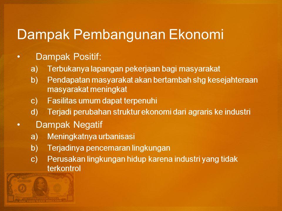 Dampak Pembangunan Ekonomi