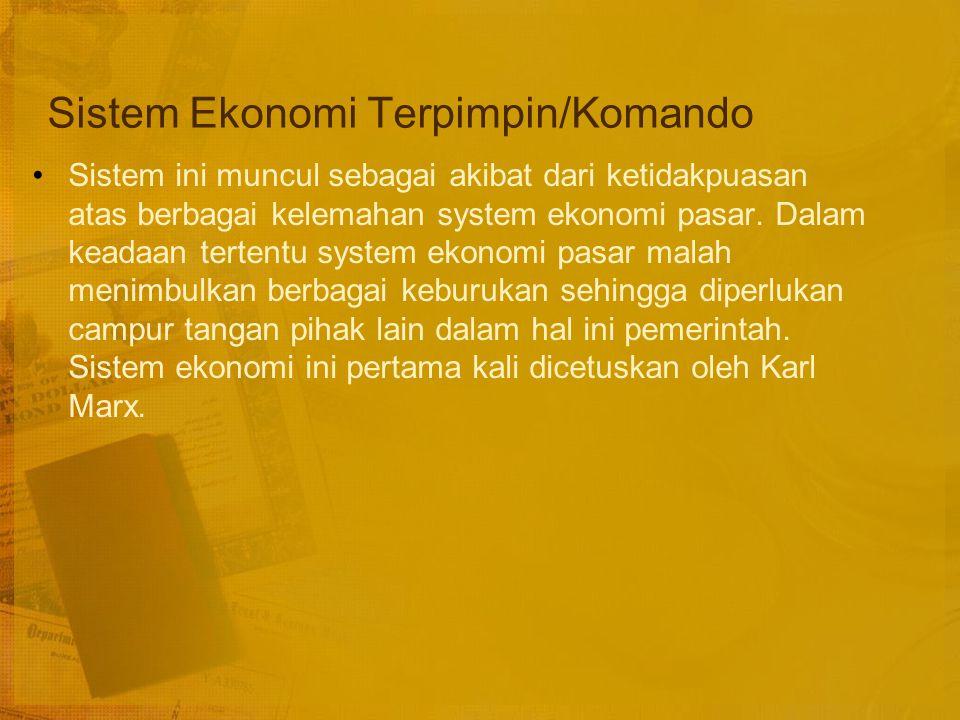 Sistem Ekonomi Terpimpin/Komando