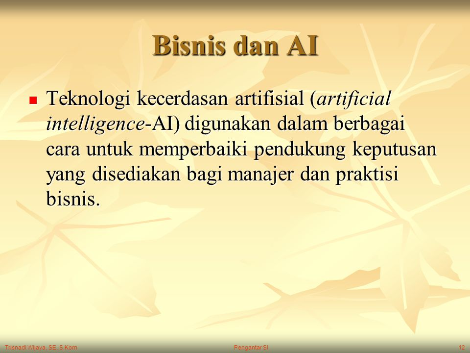 Bisnis dan AI