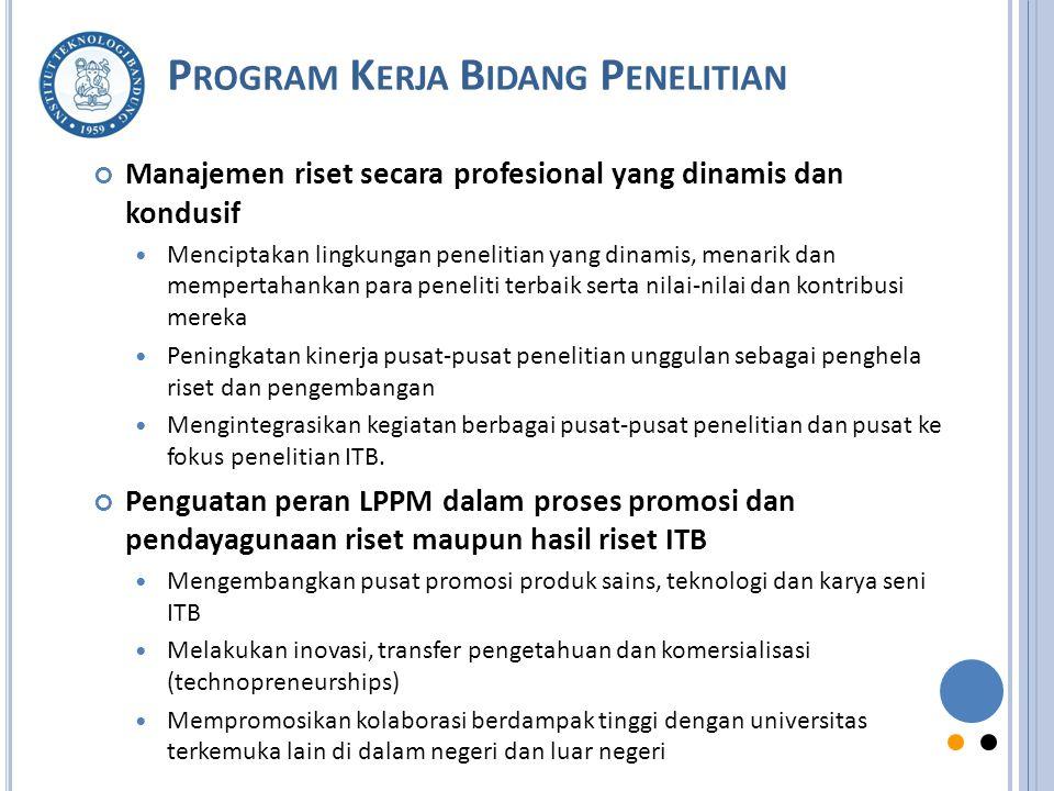 Program Kerja Bidang Penelitian