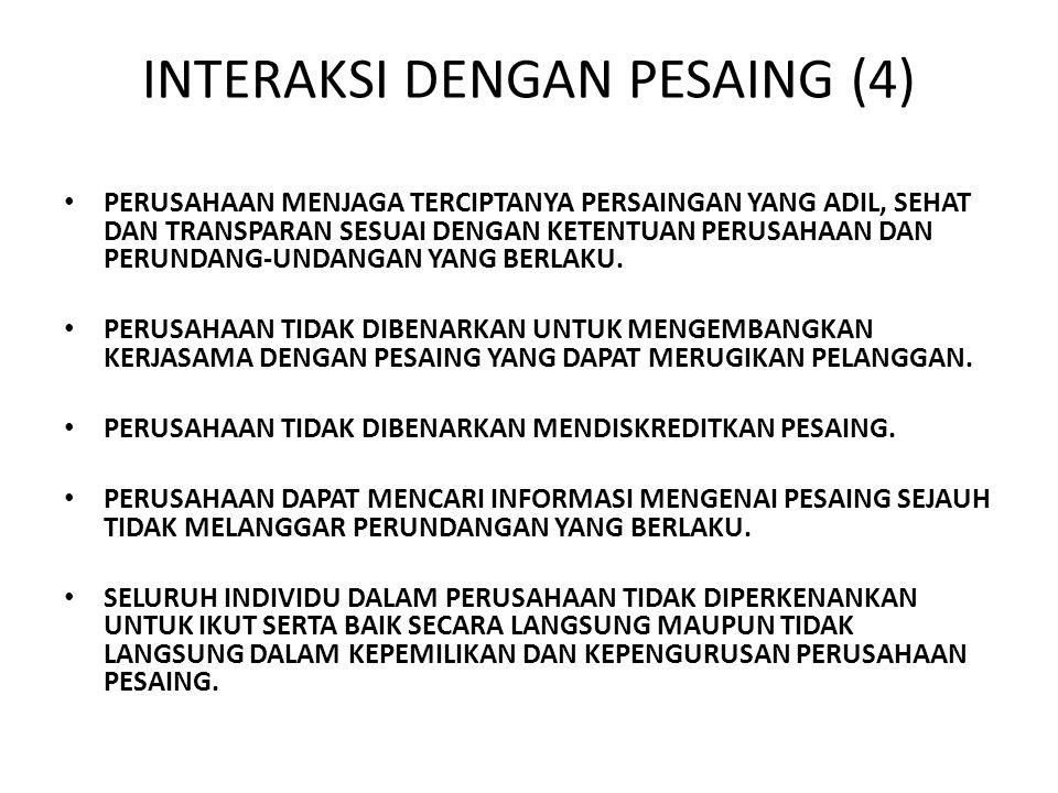 INTERAKSI DENGAN PESAING (4)