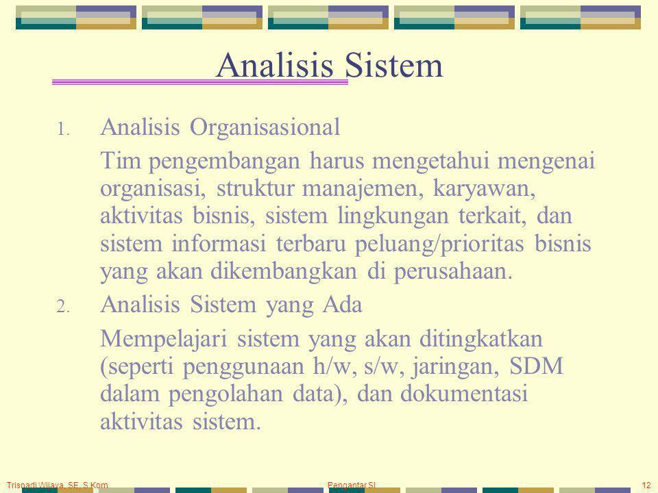 Analisis Sistem Analisis Organisasional