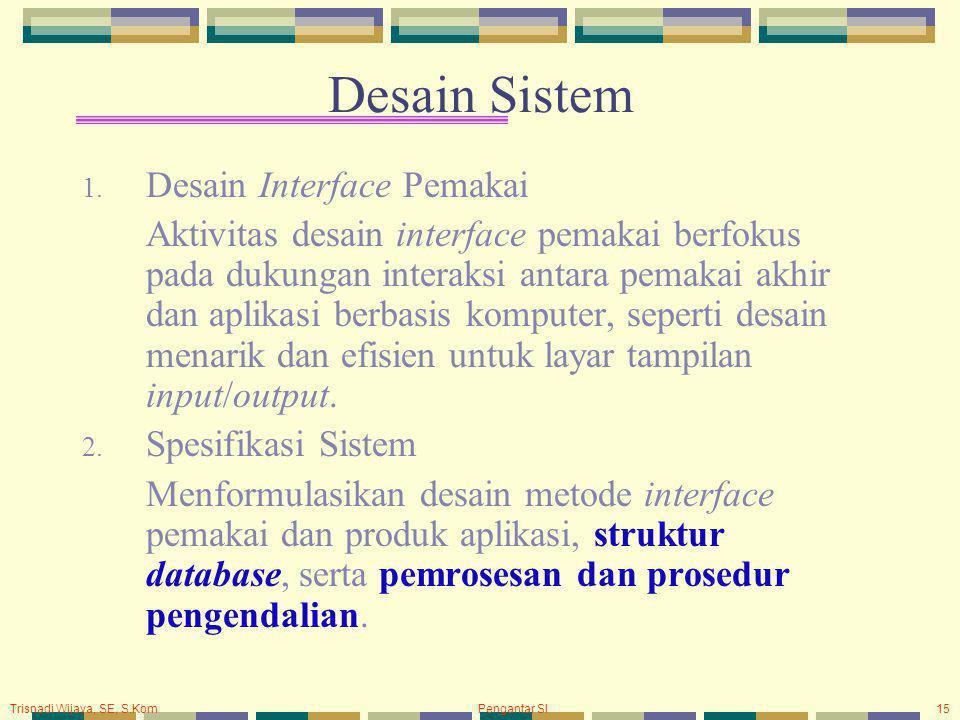 Desain Sistem Desain Interface Pemakai