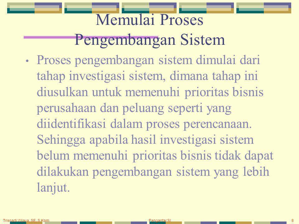 Memulai Proses Pengembangan Sistem