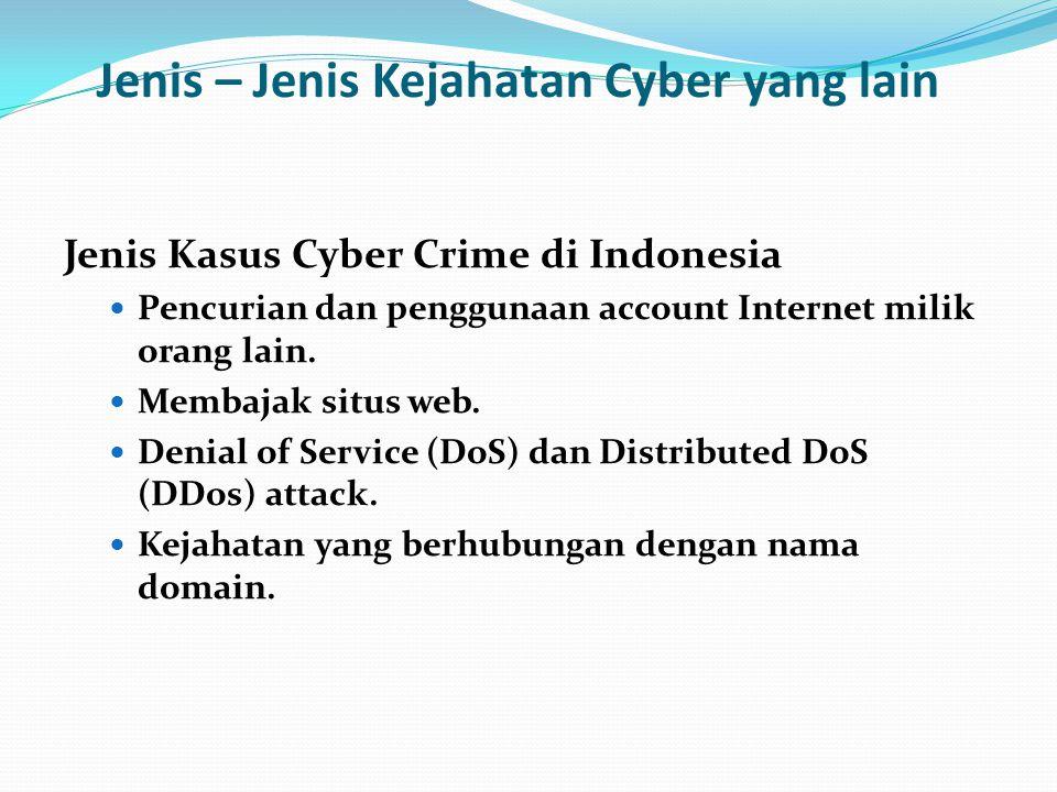Jenis – Jenis Kejahatan Cyber yang lain