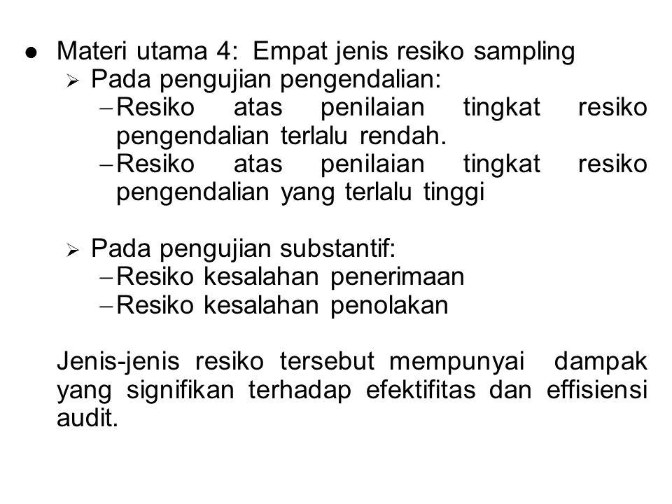 Materi utama 4: Empat jenis resiko sampling