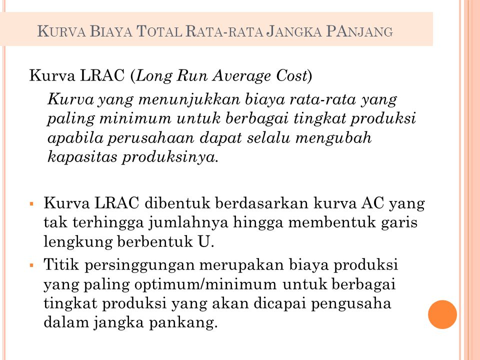 Kurva LRAC (Long Run Average Cost)
