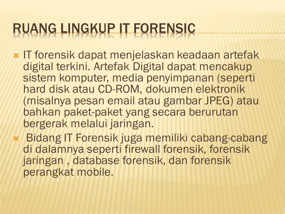 Ruang lingkup it forensic