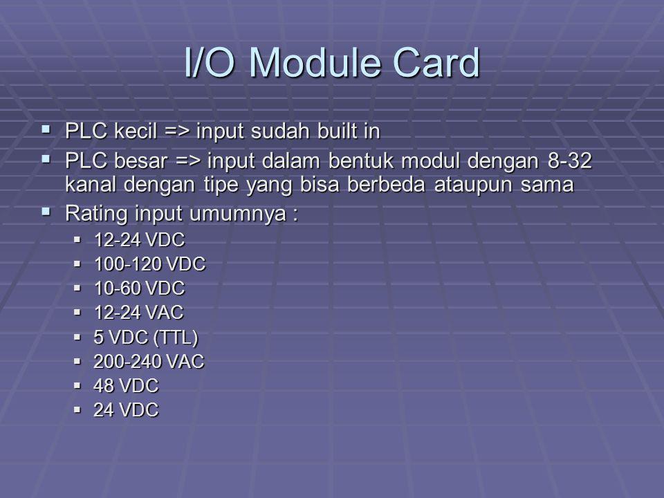 I/O Module Card PLC kecil => input sudah built in
