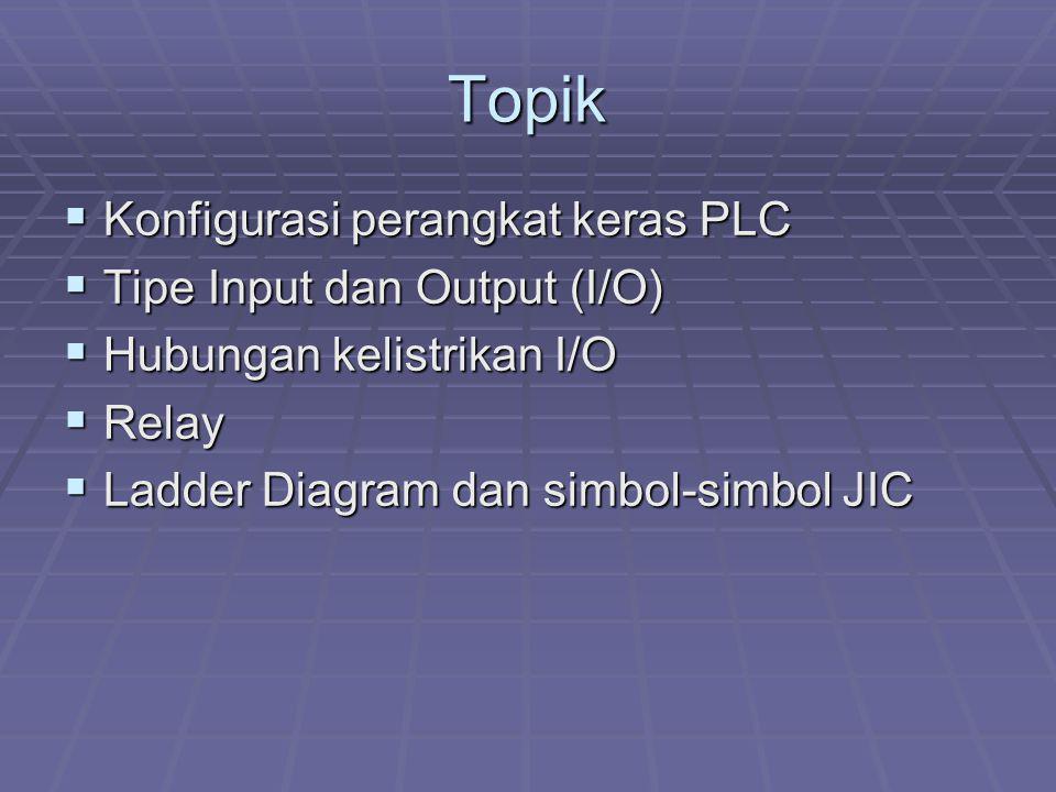Topik Konfigurasi perangkat keras PLC Tipe Input dan Output (I/O)