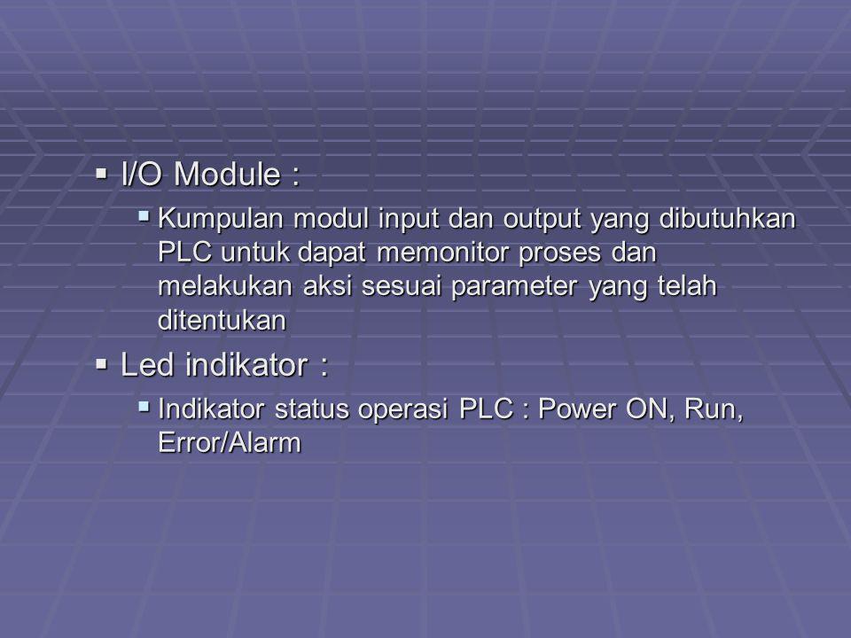 I/O Module : Led indikator :