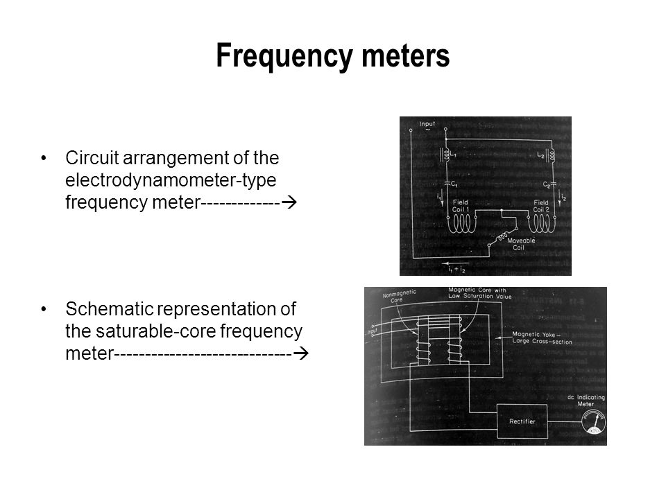 Frequency meters Circuit arrangement of the electrodynamometer-type frequency meter-------------