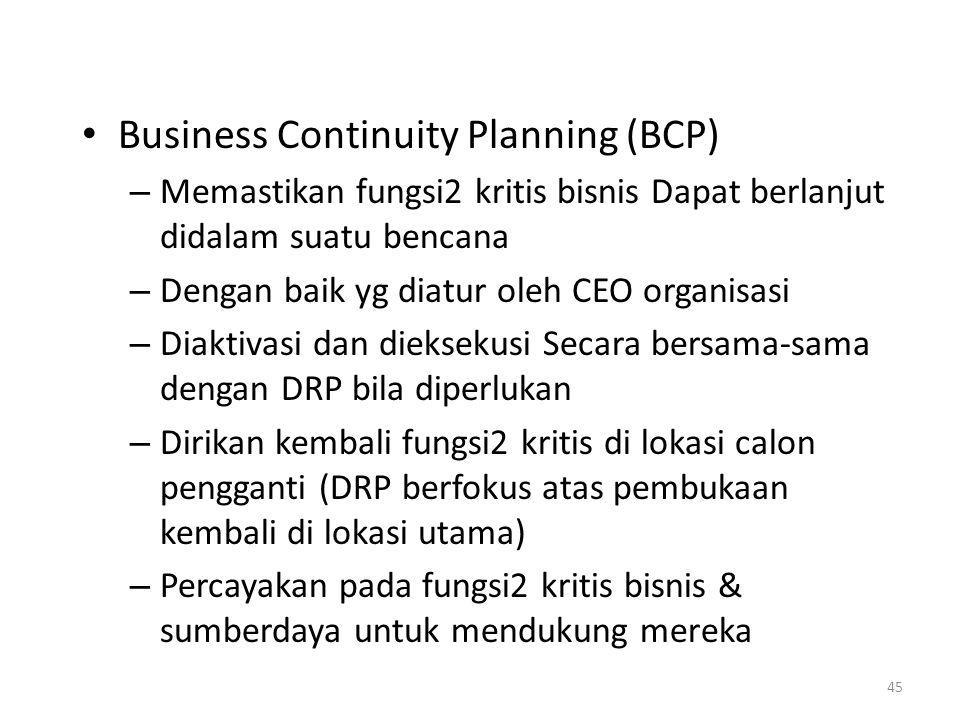 Business Continuity Planning (BCP)