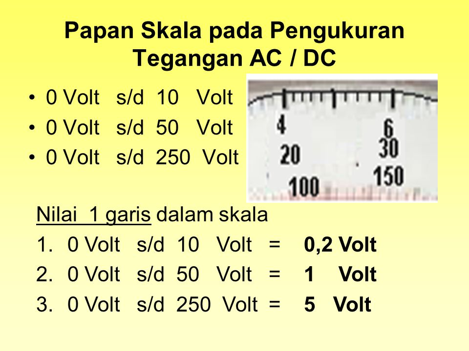 Papan Skala pada Pengukuran Tegangan AC / DC