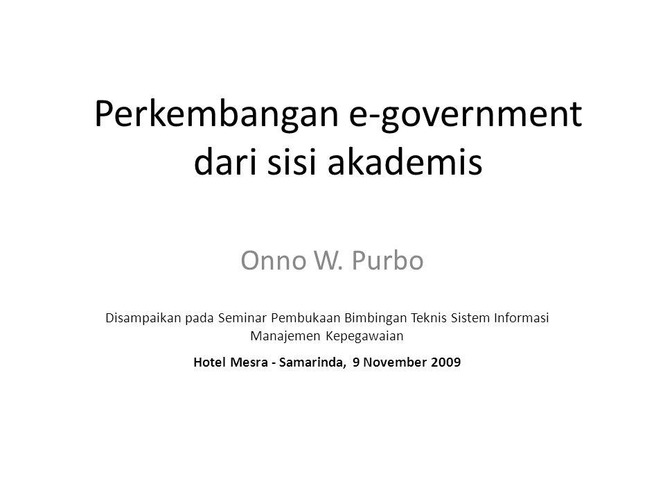 Perkembangan e-government dari sisi akademis