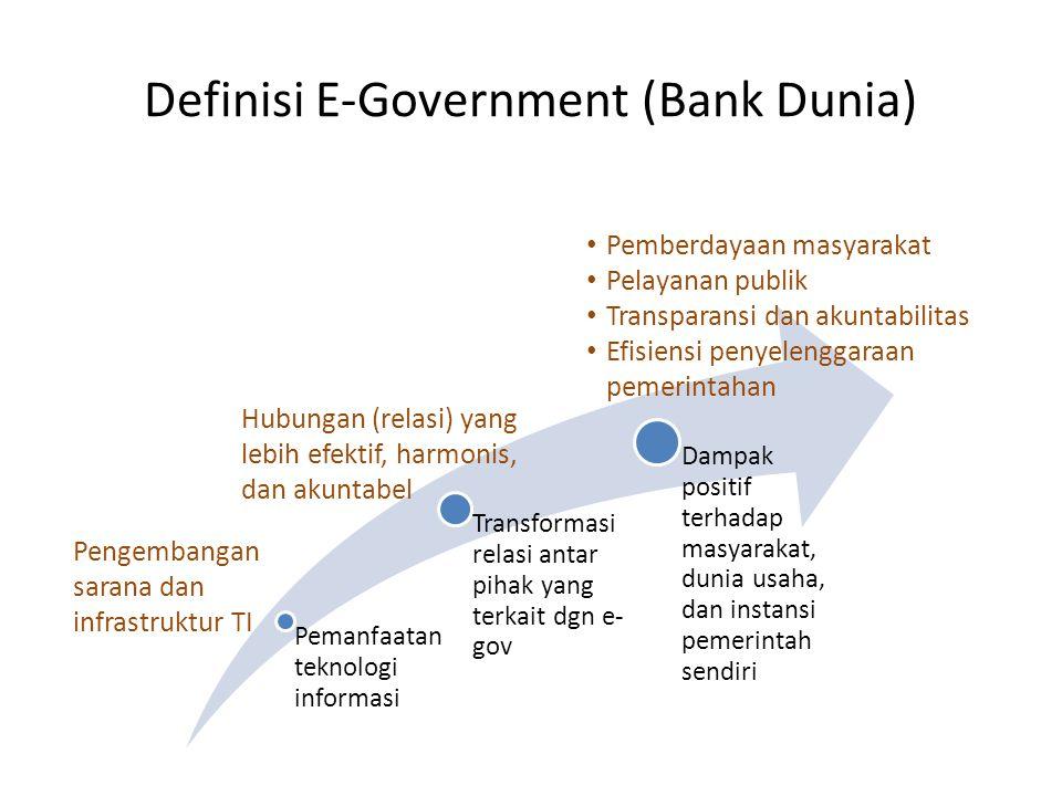 Definisi E-Government (Bank Dunia)