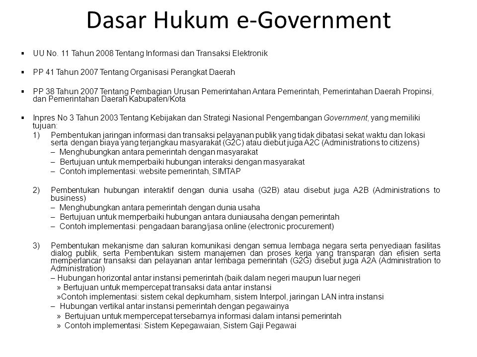 Dasar Hukum e-Government