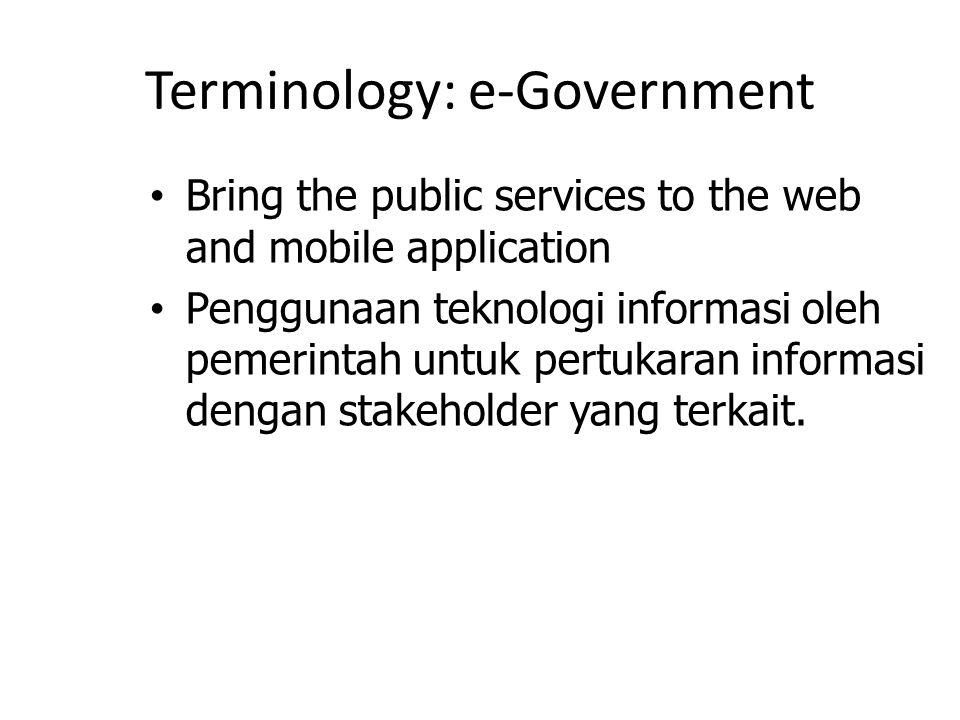 Terminology: e-Government