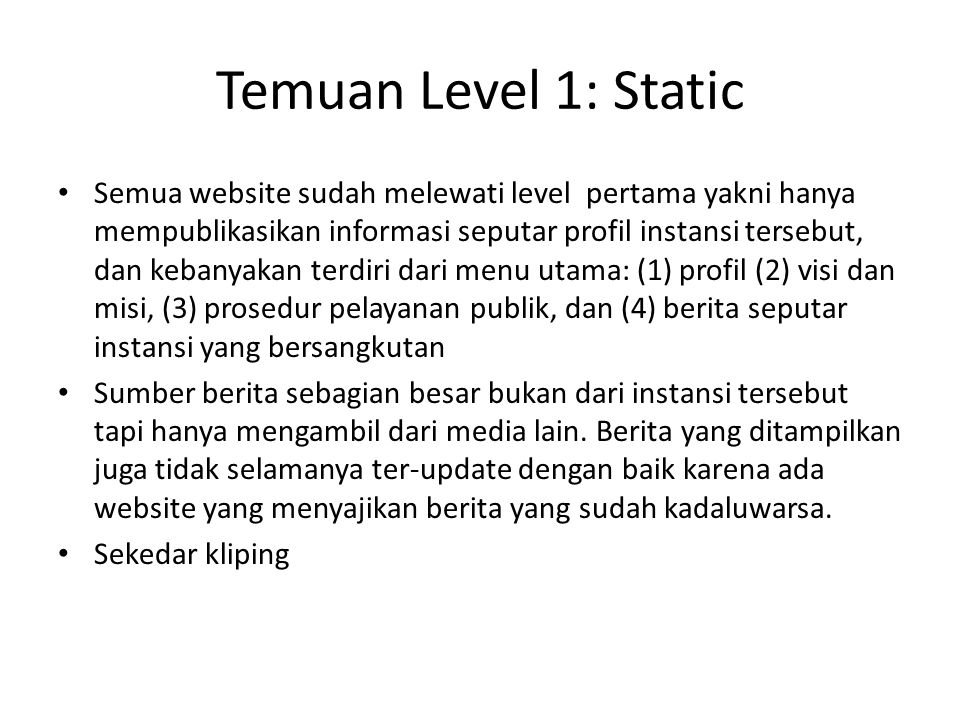 Temuan Level 1: Static