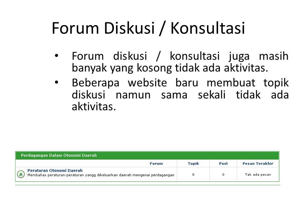 Forum Diskusi / Konsultasi
