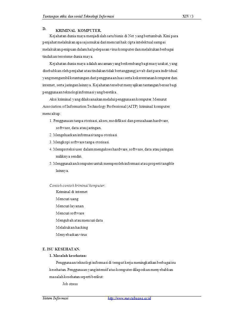 Tantangan etika dan sosial Teknologi Informasi
