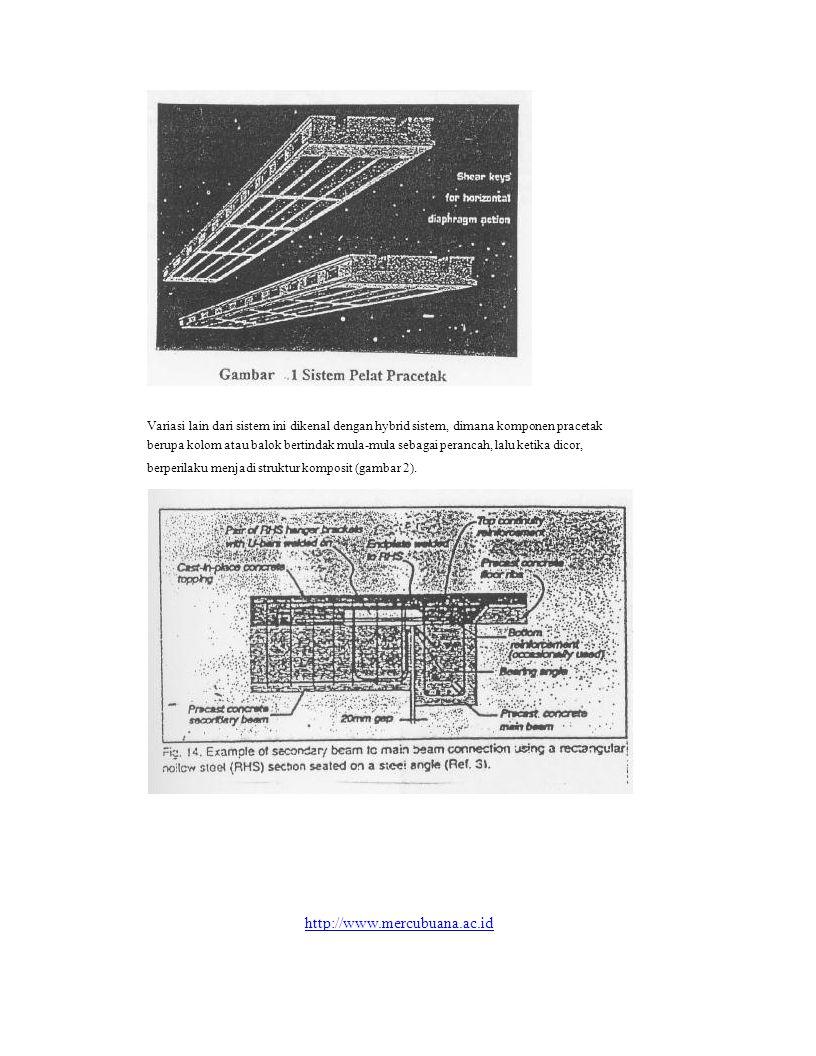 Variasi lain dari sistem ini dikenal dengan hybrid sistem, dimana komponen pracetak