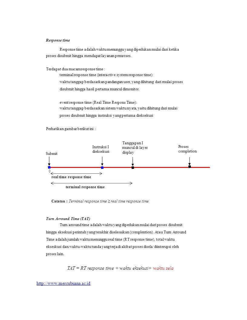 http://www.mercubuana.ac.id Response time