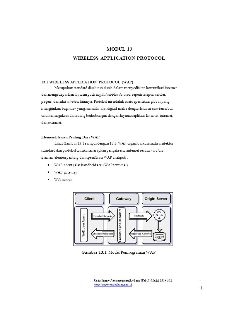 MODUL 13 WIRELESS APPLICATION PROTOCOL