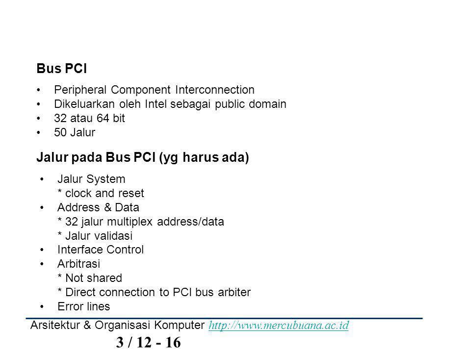 Jalur pada Bus PCI (yg harus ada)
