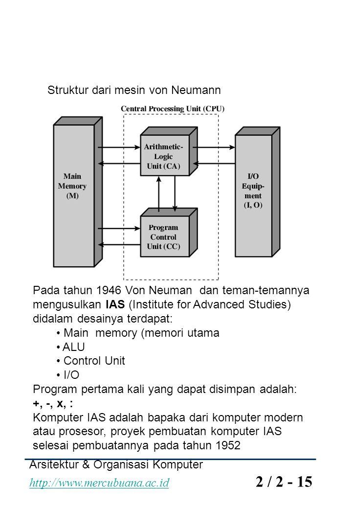 Struktur dari mesin von Neumann