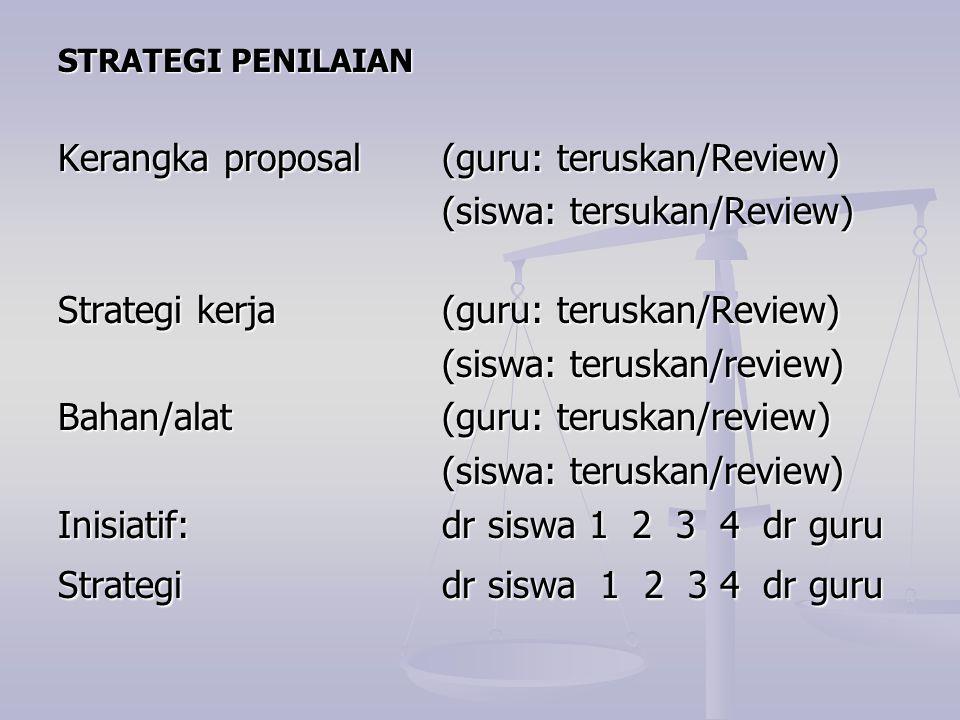 Kerangka proposal (guru: teruskan/Review) (siswa: tersukan/Review)