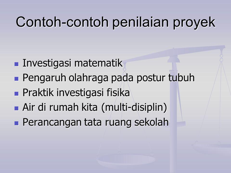 Contoh-contoh penilaian proyek