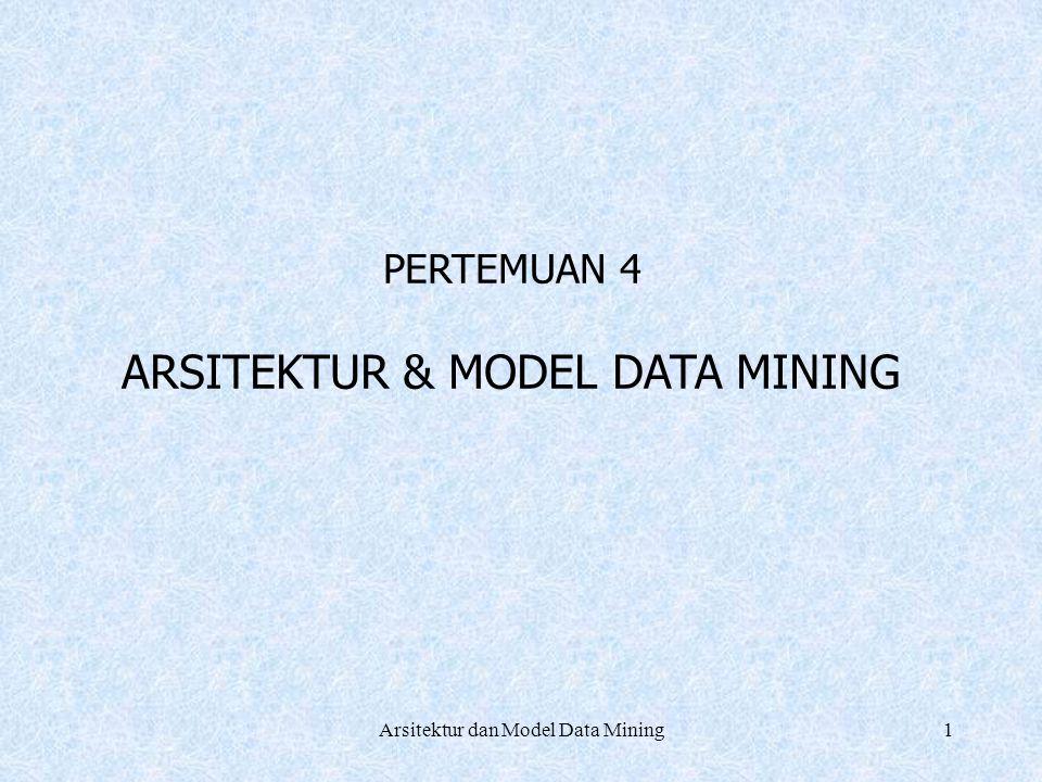 ARSITEKTUR & MODEL DATA MINING