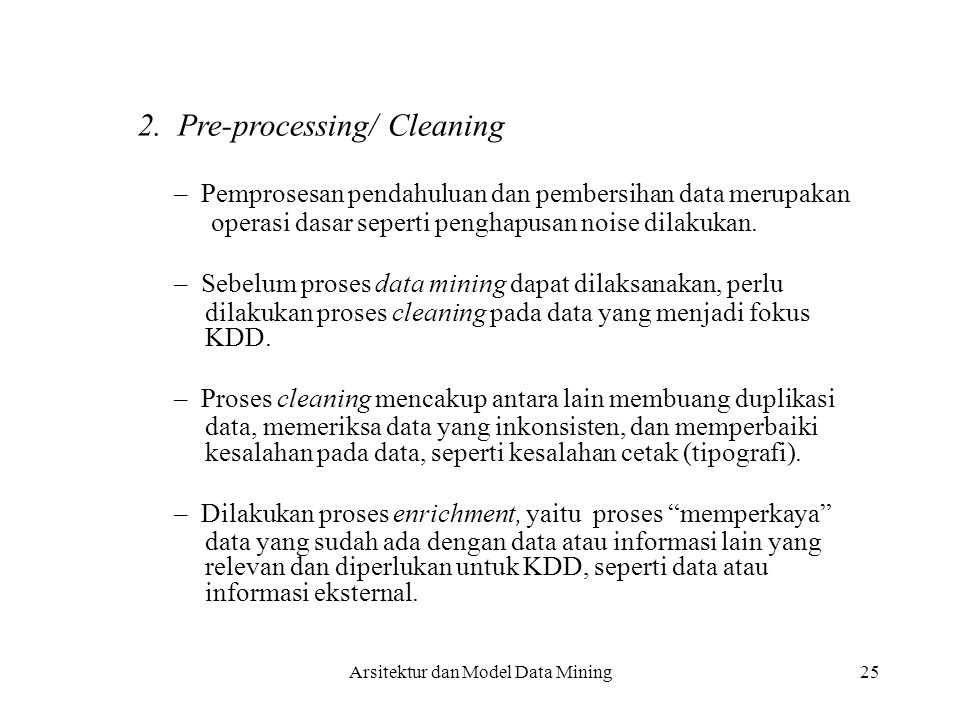 2. Pre-processing/ Cleaning