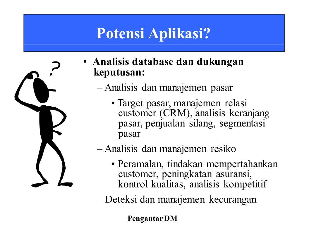 • Analisis database dan dukungan keputusan: