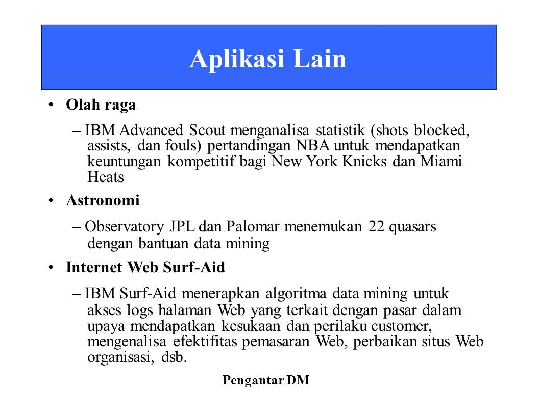 – IBM Advanced Scout menganalisa statistik (shots blocked,
