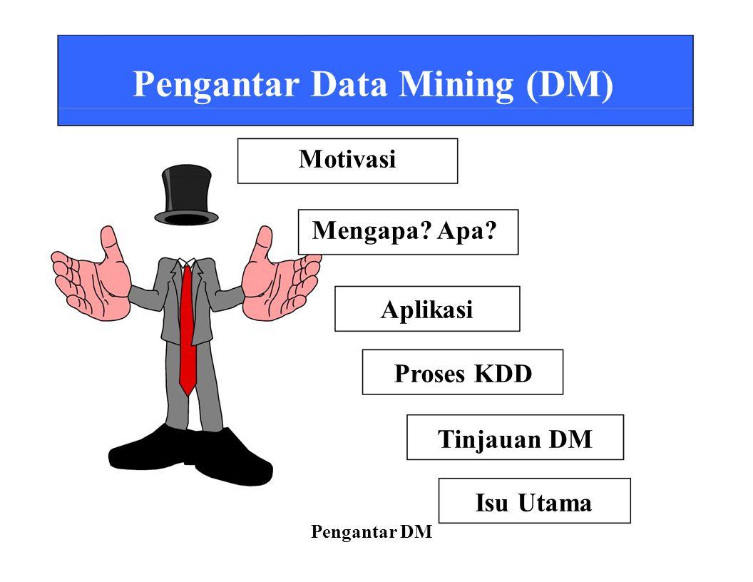 Pengantar Data Mining (DM) Motivasi
