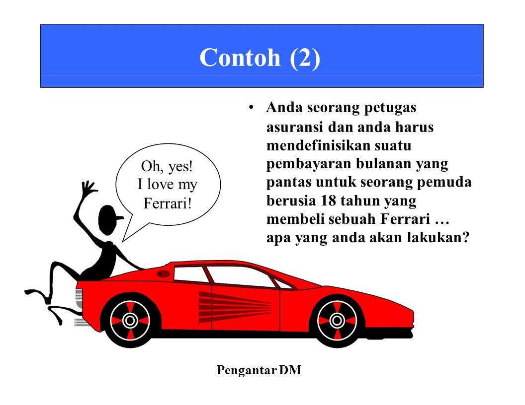 Contoh (2) • Anda seorang petugas asuransi dan anda harus